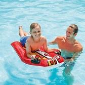 加厚兒童充氣沖浪板水上漂浮浮板浮排游泳氣墊水泡游泳圈雙把手 一米陽光