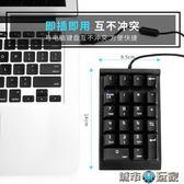 鍵盤 seenDa外接迷你數字小鍵盤 USB免切換財務會計銀行筆記本機械鍵盤 城市玩家