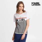 KARL LAGERFELD 巴黎鐵塔KARL條紋Tee-白