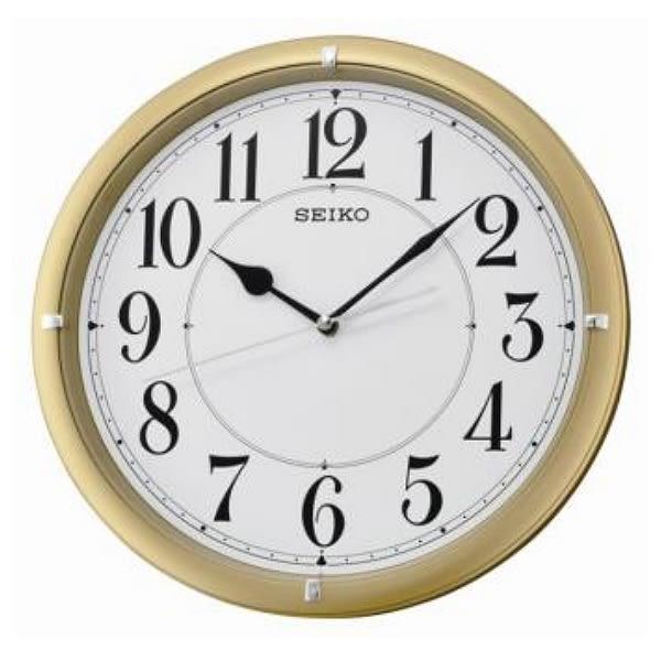 【時間光廊】SEIKO 日本 精工掛鐘 圓型 金框 滑動式秒針 全新原廠公司貨 QXA637G