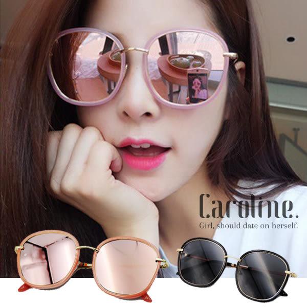 《Caroline》★/三色可選新色上市/蜜桃粉果凍夾心小臉神器抗UV太陽眼鏡69602標檢局D74321