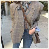 ✦Styleon✦正韓。氣質細千鳥格紋雙排扣西裝外套。韓國連線。韓國空運。0220。