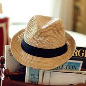 拉菲草帽韓版禮帽海邊沙灘帽遮陽爵士帽子女