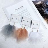 韓版個性氣質飄逸海邊度假波西米亞羽毛珍珠長款耳環耳飾耳墜 全館免運