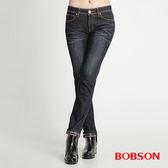 BOBSON 女款熱感IN 小直筒牛仔褲8038 52