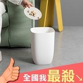 垃圾桶 收納桶 髒衣籃 置物桶 衣物筒 無蓋 塑料桶 圓桶 北歐風 簡約單層垃圾桶【A026】米菈生活館