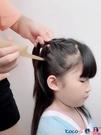 熱賣梳子 角緣天然牛角梳髮型梳羊角梳寶寶挑分髮梳女孩扎辮子兒童尖尾梳子  coco