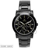 【台南 時代鐘錶 SIGMA】簡約時尚 藍寶石鏡面時尚腕錶 8807M-BG 金/黑 37mm 平價實惠好選擇