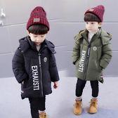 羽絨外套 男童棉襖新品冬裝加厚保暖2-6周歲4兒童男寶寶中長款外套