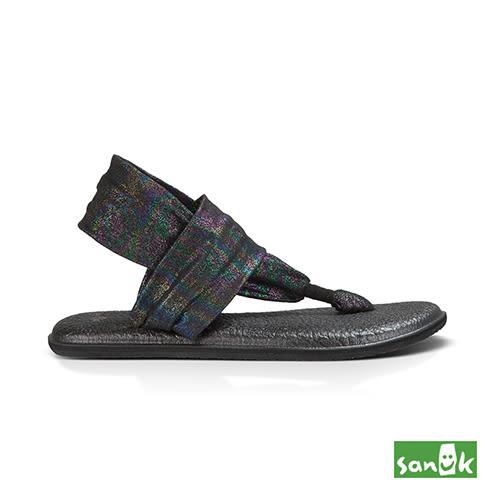 SANUK 金屬絲質綁帶涼鞋-女款SWS10951 BKRB (金屬黑)
