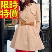 毛呢大衣-設計保暖羊毛女長版外套2色62k18【巴黎精品】
