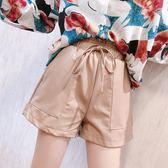 皮短褲女 2018新款韓版顯瘦pu短皮褲 SDN-1579