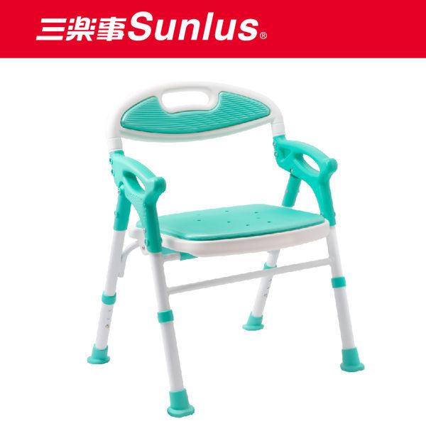 Sunlus三樂事摺疊式軟墊洗澡椅