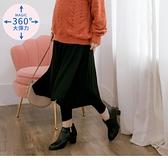 高含棉高彈性假兩件拼接孕婦內搭褲裙--適 XL~4L OrangeBear《MA0263》