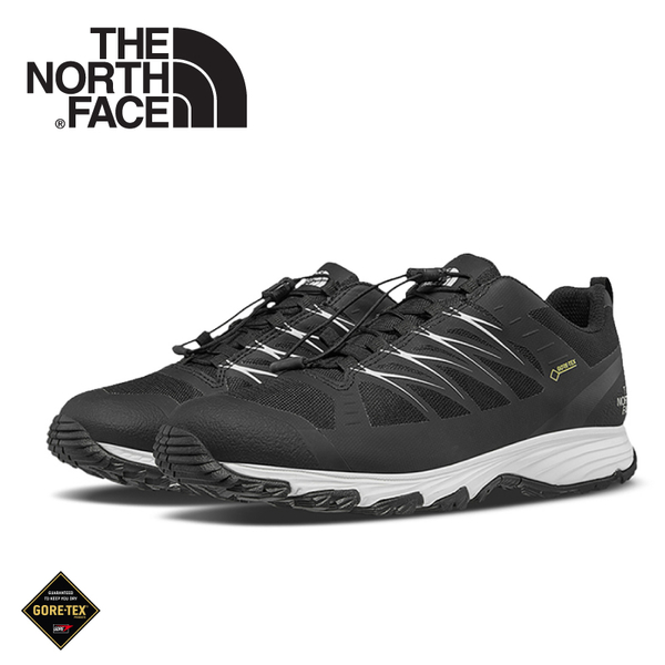 【The North Face 美國 女 GORE-TEX 徒步鞋《黑/白》】3FYZ/健行鞋/防水/越野鞋/健行鞋/跑步/路跑