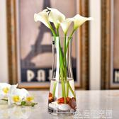 歐式簡約玻璃花瓶創意透明人造水晶插花玻璃餐桌客廳 造物空間