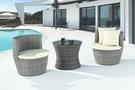 【南洋風休閒傢俱】戶外休閒桌椅系列-藤編休閒圓桌椅組 戶外餐桌椅CX900-1 CX900-2)