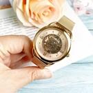 FOSSIL美國品牌TAILOR玫瑰金鏤空機械腕錶ME3165公司貨