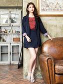 秋裝販促[H2O]多種穿法可反折袖綁帶復古西裝外套 - 藍底白條/黑格/粉色 #9663002