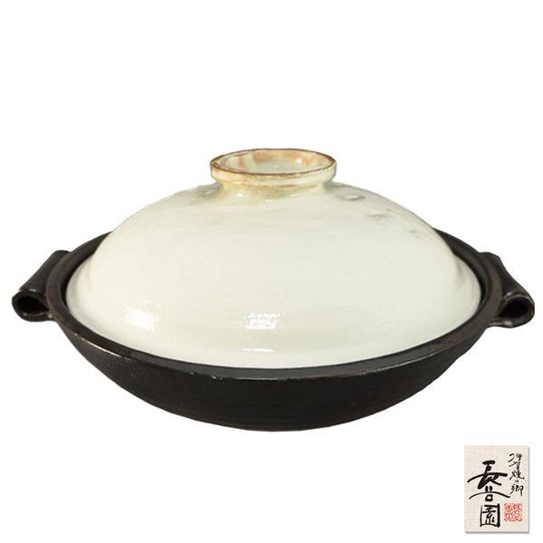 【日本長谷園伊賀燒】多功能粉引白蓋陶鍋