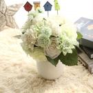 仿真話大麗花束玫瑰花球手捧花家居客廳裝飾...