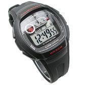 CASIO卡西歐 W-210-1C 電子錶 橡膠 黑色 40mm 男錶