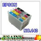 USAINK EPSON 小連供填充套件組/連續供墨 (NO.143/T1431/T1432/T1433/T1434) 適用 Stylus ME900/ME960/ME82WD