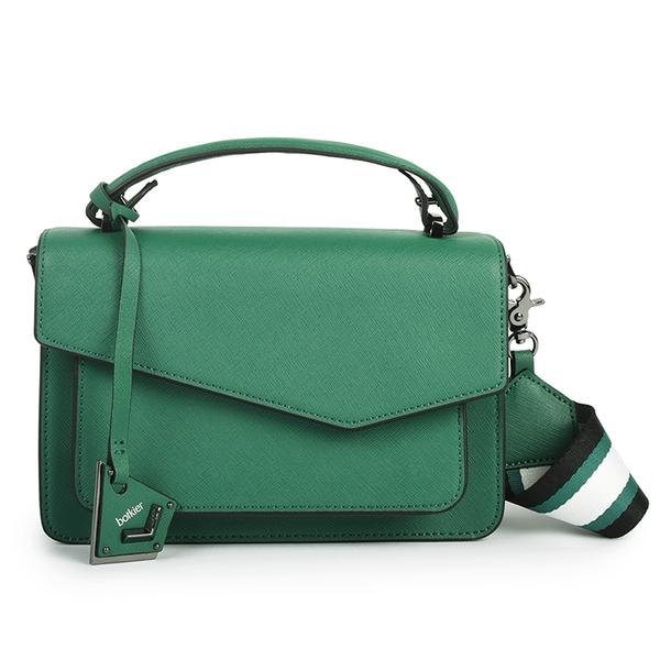 Botkier防刮皮革手提/斜背兩用風琴包(綠色)260001-14