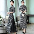 降價兩天 復古連身裙長款唐裝時尚旗袍越南...
