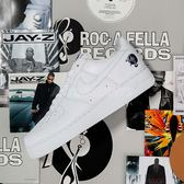 Nike Air Force 1 07 Low ROCAFELLA 全白 皮革 男鞋 AF100 JayZ 【PUMP306】 AO1070-101