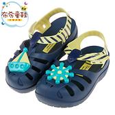 《布布童鞋》Ipanema海上小英雄藍黃色寶寶護趾涼鞋香香鞋(14~17公分) [ U0E688B ]