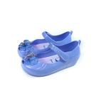 冰雪奇緣 Elsa Anna 休閒鞋 娃娃鞋 魔鬼氈 粉藍色 中童 童鞋 FNKT14166 no773