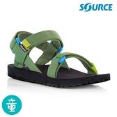 SOURCE Classic kids 兒童運動涼鞋101013B8【藍綠】 / 城市綠洲(織帶 輕量 快乾 抑菌)