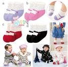 日單點點女寶寶假鞋襪4件/組( 紫/粉/紅/黑)不拆賣