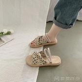 (快速)涼鞋 女仙女風新款學生百搭羅馬兩穿網紅涼拖ins潮沙灘平底鞋