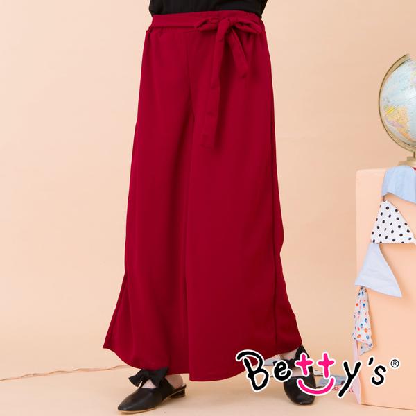 betty's貝蒂思 鬆緊寬版綁帶寬褲(紅色)