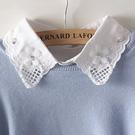 假領子針織外套領片 雪紡紗寶石款領片 洋裝大學T針織衫外套內搭白色[E1256] 預購.朵曼堤洋行