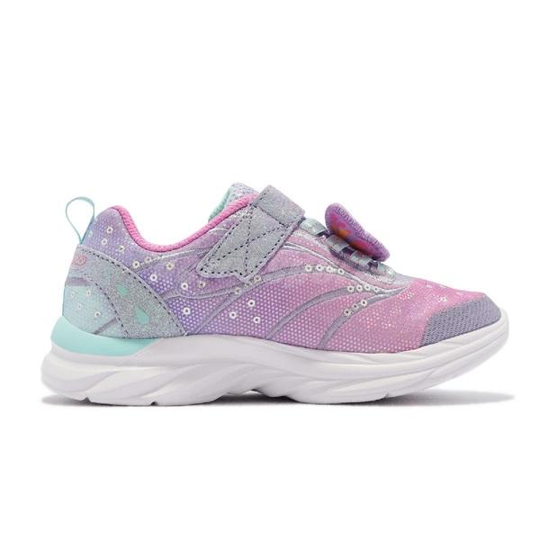 Skechers 童鞋 Quick Kicks Flutter Joy 女鞋 4-7歲 蝴蝶 粉 紫 運動鞋【ACS】 302207-LLVMT