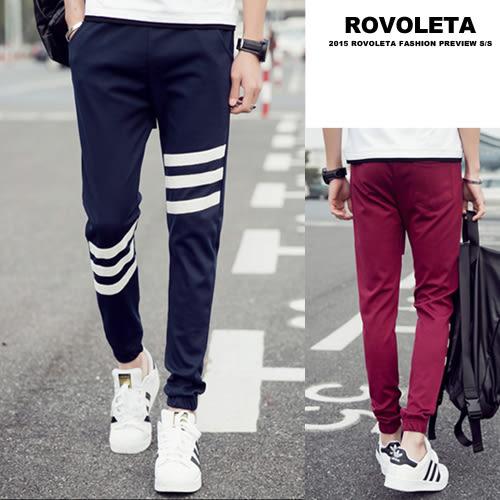 薄款直筒休閒縮口褲【EV-W08-15】(ROVOLETA)