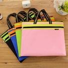 文件袋 8K文件袋A3美術袋 大容量A4拉鏈袋雙層帆布手提收納袋資料包 生活主義
