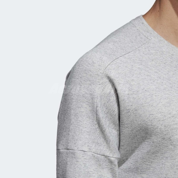 adidas 大學T ID Stadium Crewneck Sweatshirt 灰 長T 前方口袋 男款 【PUMP306】 CW4017