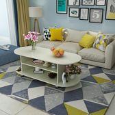 茶幾簡約現代客廳邊幾家具儲物簡易茶幾雙層木質小茶幾小戶型桌子WY  萬聖節禮物