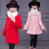 女童毛呢外套 女童毛呢外套年新款兒童中長款秋冬呢子大衣女孩冬裝加厚洋氣 麗人印象 免運
