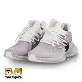 ADIDAS 銀灰色 鞋帶款 運動鞋 大童鞋 NO.R3249