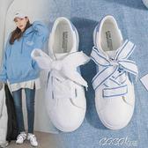 帆布鞋 小白鞋女春季新款百搭韓版chic帆布鞋ins原宿ulzzang板鞋    coco衣巷