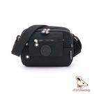 B.S.D.S冰山袋鼠 - 時光旅人 - 知性休閒防潑水斜背包 - 黑色【B0024-2K】