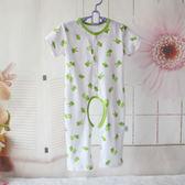 兒童加大碼純棉開襠短袖長褲連體睡衣