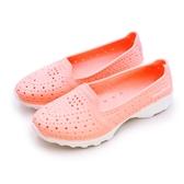 LIKA夢 GOODYEAR 固特異 排水透氣輕量美型水陸多功能休閒洞洞鞋 蜜桃橘 82823 女