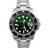 Valentino coupeau黑綠色不鏽鋼錶NEV83