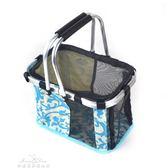 寵物包包 便攜式網格手提貓狗籃子泰迪手提籃貓狗外出箱包狗袋子igo『夢娜麗莎精品館』